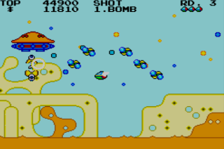 Fantasy Zone - Master System - Gameplay Screenshot
