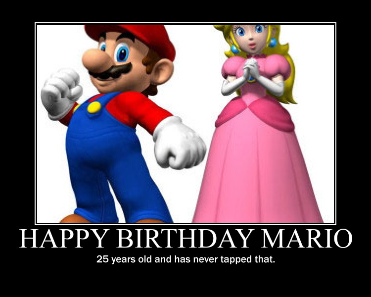 Mario Peach Demotivational Poster