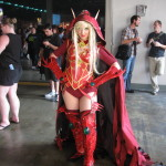 Sexy Blood Elf cosplay girl