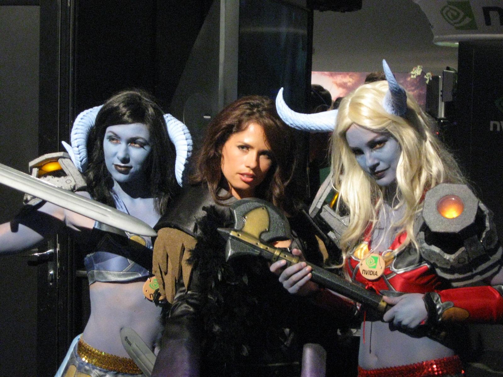 Sexy trio cosplay girls
