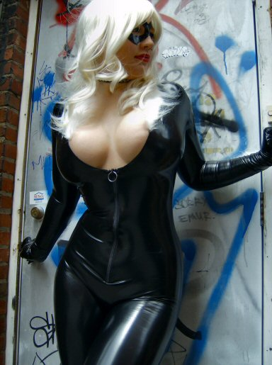 Black Cat cosplay hot girl
