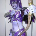 purple nightelf cosplay girl