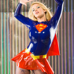 sexy supergirl cosplay girl