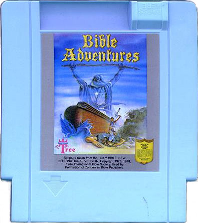 Bible Adventures NES cartridge