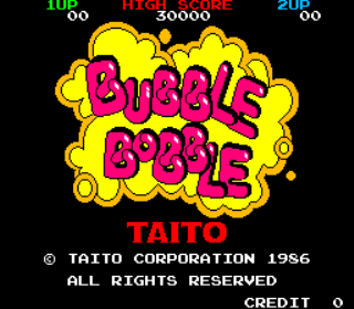 Bubble Bobble - Arcade Gameplay Screenshot 1