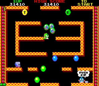 Bubble Bobble - Arcade Gameplay Screenshot 2