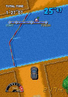 Drift Out - Arcade Gameplay Screenshot