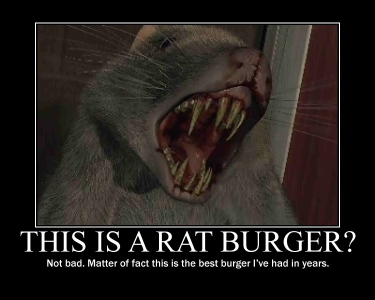 Rat Burger Parasite Eve demotivational poster