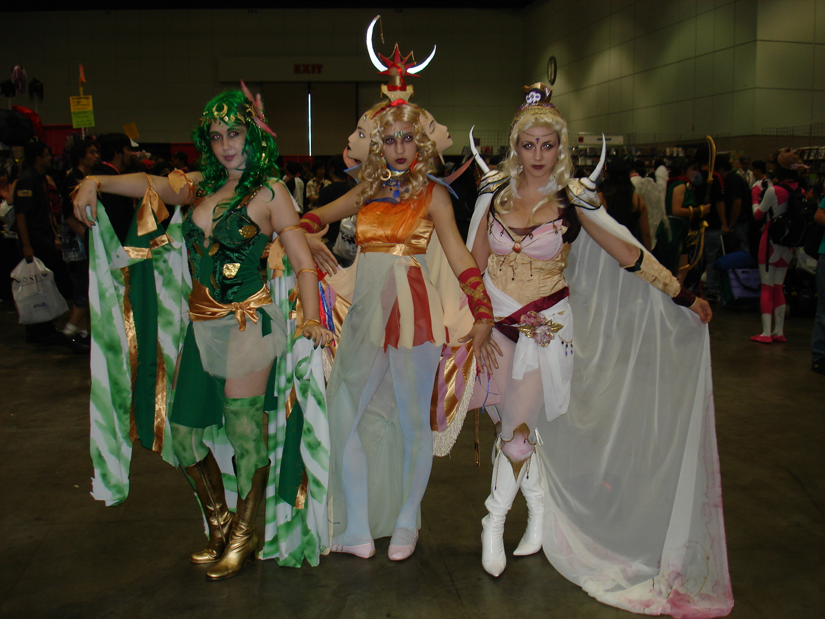 awesome trio cosplay girls