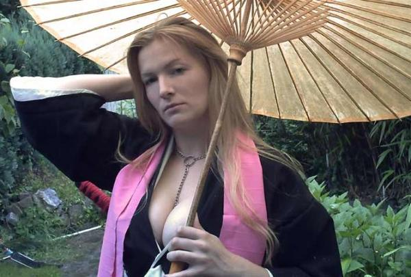 busty cosplay girl
