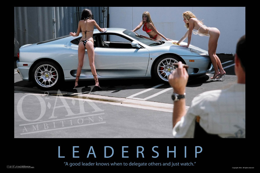 leadership demotivational poster