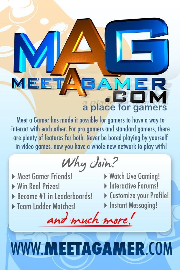 Meet A Gamer advert
