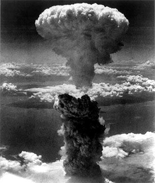 nuclear bomb mushroom cloud explosion
