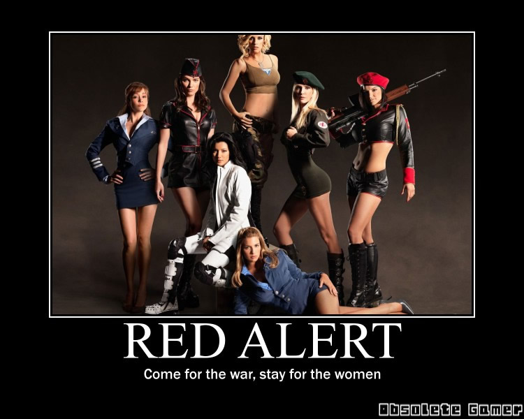 red alert 3 demotivational poster cosplay girls