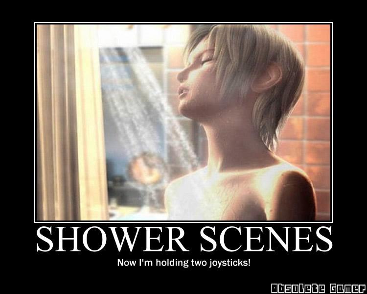 Shower Scene demotivational poster