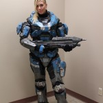 Halo spartan cosplay girl