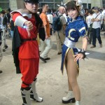 Street Fighter Bison Chun Li cosplayers