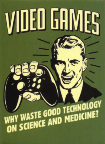 Video Games funny poster