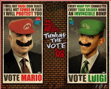 vote McCain Obama Super Mario Bros