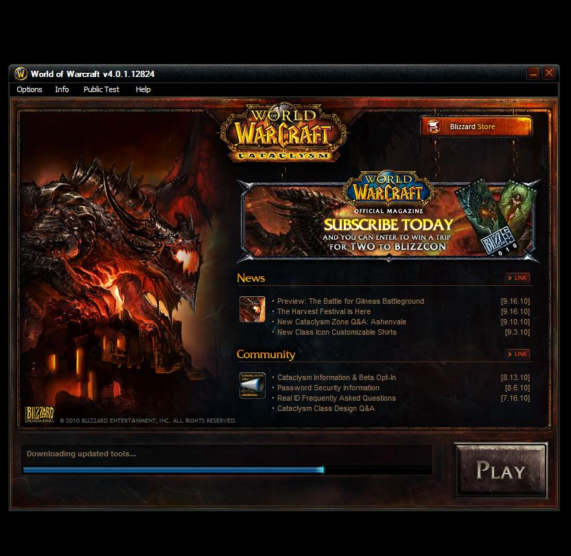 World of Warcraft Client Patch 4.0.1