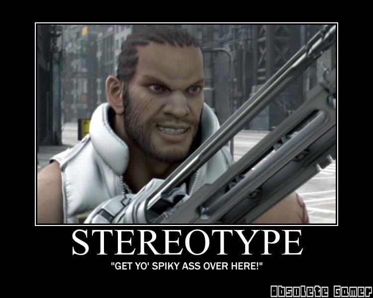 Stereotype demotivational poster