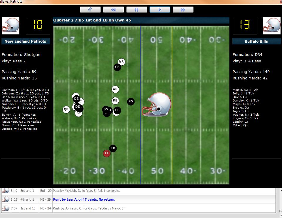 Professional Football Simulator