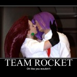 Team Rocket motivational poster cosplay