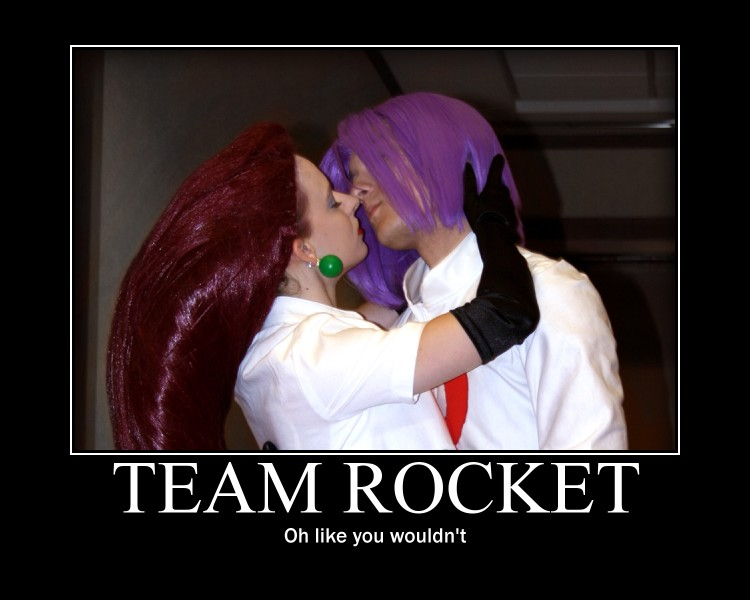 Team Rocket motivational poster cosplay