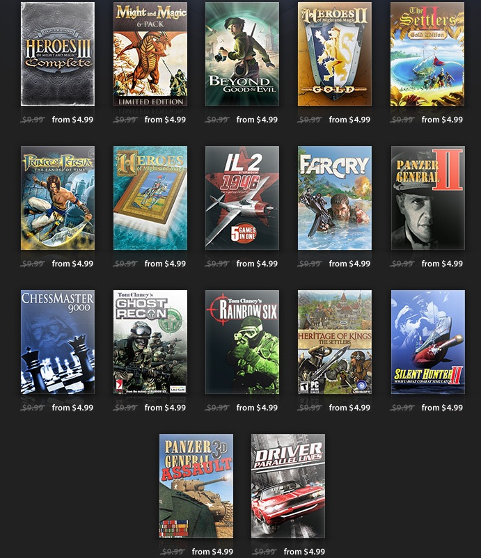 Ubisoft GOG sale