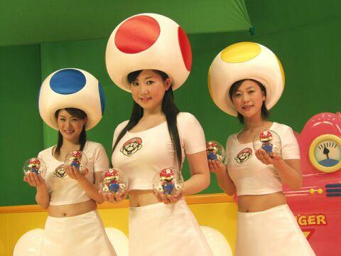 super mario bros mushroom girls cosplay