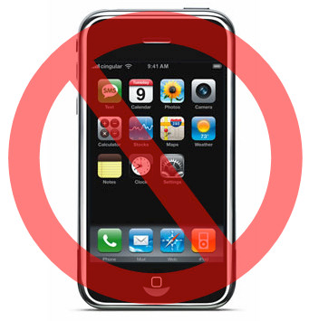 say no to iphone