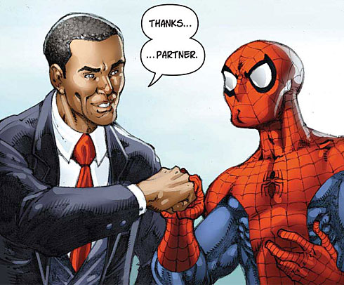 obama and spiderman