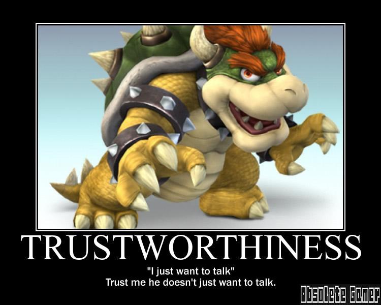 Trustworthiness demotivational poster