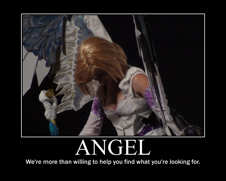 Angel girl motivational poster