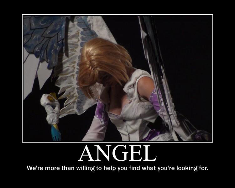 Angel girl motivational poster