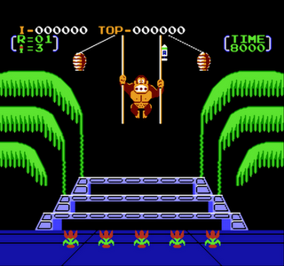 Donkey Kong 3 - NES - Gameplay Screenshot