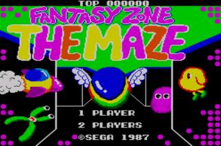 Fantasy Zone The Maze - Opa-Opa - Sega Master System - Gameplay Screenshot