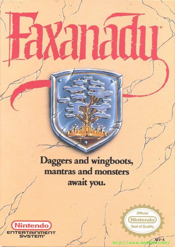 Faxanadu box front