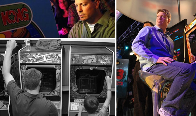 Steve Wiebe at the arcade