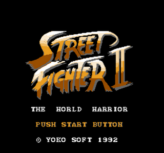 Street Fighter II - The World Warrior - Bootleg - Gameplay Screenshot -1