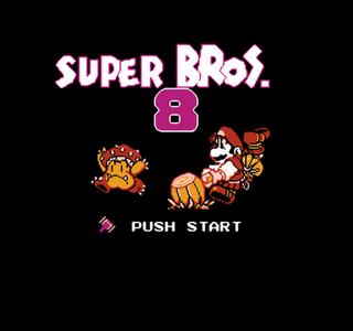 Super Bros 8 - Title Screen