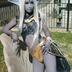 dark elf cosplay girl