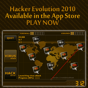 Hacker Evolution 2010 for iphone