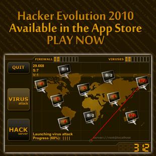 Hacker Evolution 2010 for iphone