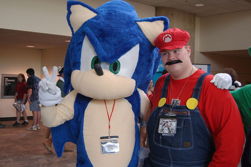 mario and sonic cosplay