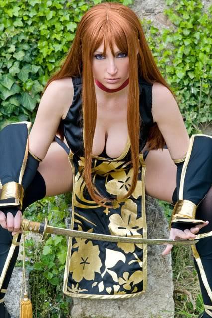 sexy samurai cosplay girl