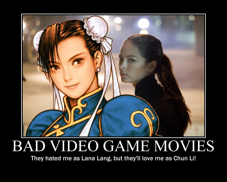 bad video game movies demotivational poster