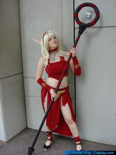 world of warcraft blood elf cosplay girl