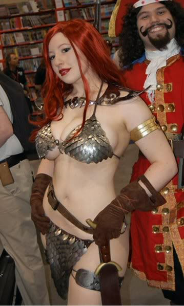 Sexy bikini Armor Cosplay girl