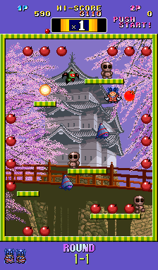 BombBomb Jack Twin - Arcade - Gameplay Screenshot